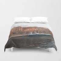 senna Duvet Covers featuring Paris In Fall by cinema4design