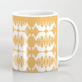 Oh, deer! in tangerine orange Coffee Mug