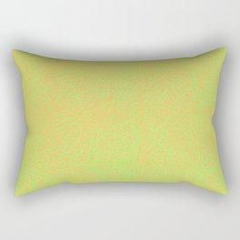 Lime Green Orange Elephant Skin Rectangular Pillow
