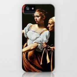 Merisi da Caravaggio - Judith enthauptet Holofernes iPhone Case