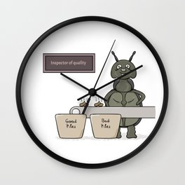 bug as a inspector of quality Wall Clock