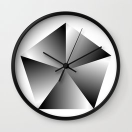 Metal Pentagon Wall Clock