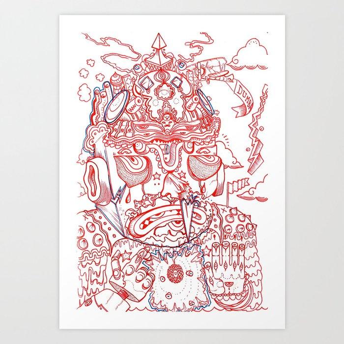 nah-maste Art Print