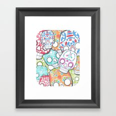 skulls sugar Framed Art Print