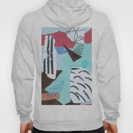 pastels paper collage Hoody