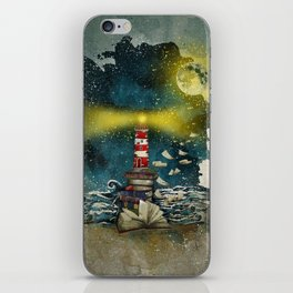 the sea is poetry iPhone Skin