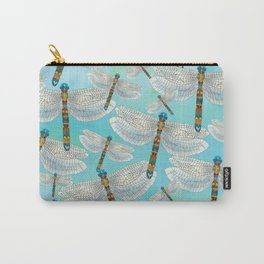 Dragonfly Lake, Turquoise Carry-All Pouch