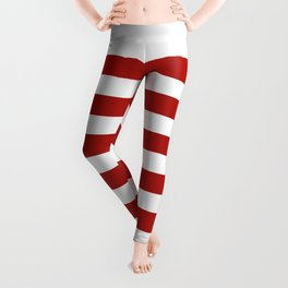 Red & White Maritime Stripes- Mix & Match with Simplicity of Life Leggings