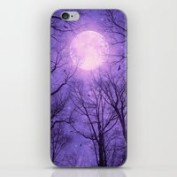 tolkien iPhone & iPod Skins featuring May It Be A Light (Dark Forest Moon II) by soaring anchor designs