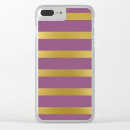 Baesic Gold & Purple Texture Shine Clear iPhone Case