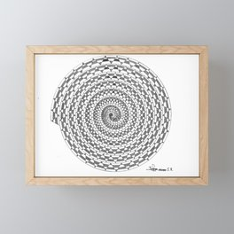 spiral 3 Framed Mini Art Print