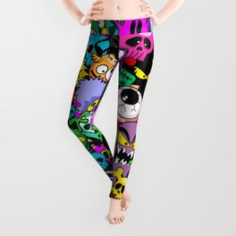 Monsters Doodles Characters Saga Leggings