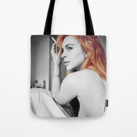 lindsay lohan Tote Bags featuring Lindsay Lohan by Katieb1013