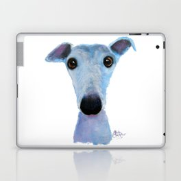 Nosey Dog Whippet Greyhound ' BLUEBELL ' by Shirley MacArthur Laptop & iPad Skin