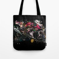 motorcycle Tote Bags featuring Motorcycle by ron ashkenazi