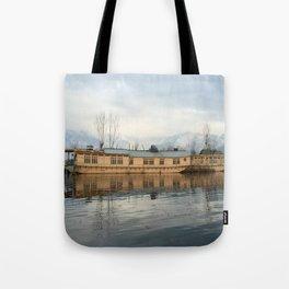 Houseboat on Dal Lake Tote Bag
