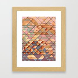 Triangles Circles Golden Sun Framed Art Print