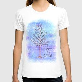 Winter Tree Love Life print T-shirt