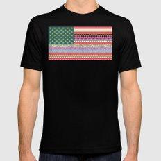 US Beauty flag Black MEDIUM Mens Fitted Tee