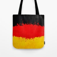 germany Tote Bags featuring Germany by Nicklas Gustafsson