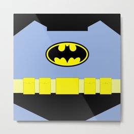 Bat Man - Superhero Metal Print