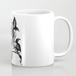 Black and Grey Rose Coffee Mug