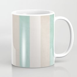 aqua and sand stripes Coffee Mug