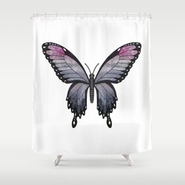 heather imp swallowtail (Papilio impa hathir) Shower Curtain