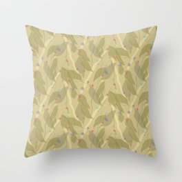 In the Garden Watercolor Pattern Throw Pillow