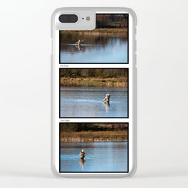 Gone Fishing Triptych White Clear iPhone Case