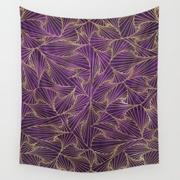 Tangles Violet and Gold Wall Tapestry