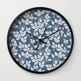 Leaves Pattern 7 Wall Clock