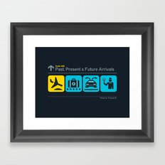 Time to Travel Framed Art Print