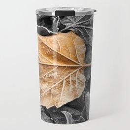 Frosty Leaves Travel Mug