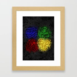 Four Elements Framed Art Print