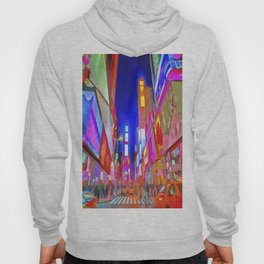Times Square New York Pop Art Hoody
