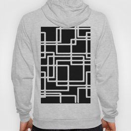 Interlocking White Squares Artistic Design Hoody