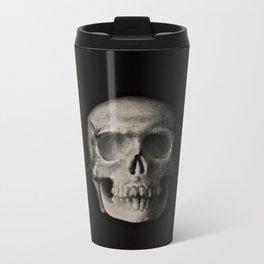 Skull Monochrome Metal Travel Mug