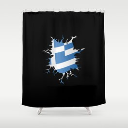 Greek Inside Shower Curtain