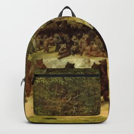 The Bear Dance Painting - William Holbrook Beard Backpack
