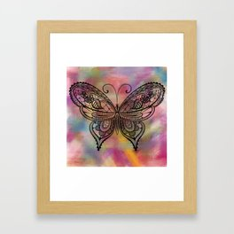 Butterfly Lacing Framed Art Print