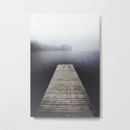 Fading into the mist Metal Print