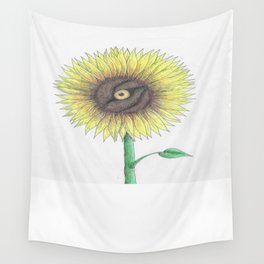Seeing Sunflowers Wall Tapestry