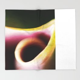 Calla Lily Abstract Throw Blanket