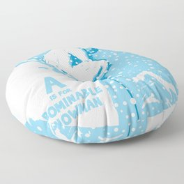 A is for Abominable Snowman Floor Pillow