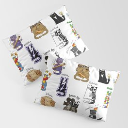 Science cats. History of great discoveries. Physics, chemistry etc Pillow Sham
