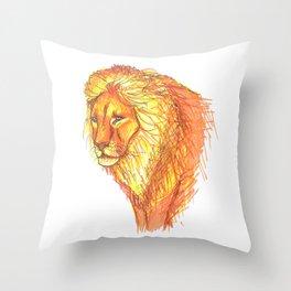 Bright Lion Throw Pillow