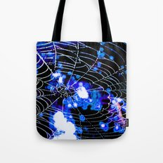 Spider Love Blues Tote Bag