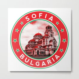 Sofia, Bulgaria, Alexander Nevsky Cathedral, circle, red Metal Print
