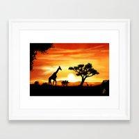 africa Framed Art Prints featuring Africa by Richard Eijkenbroek